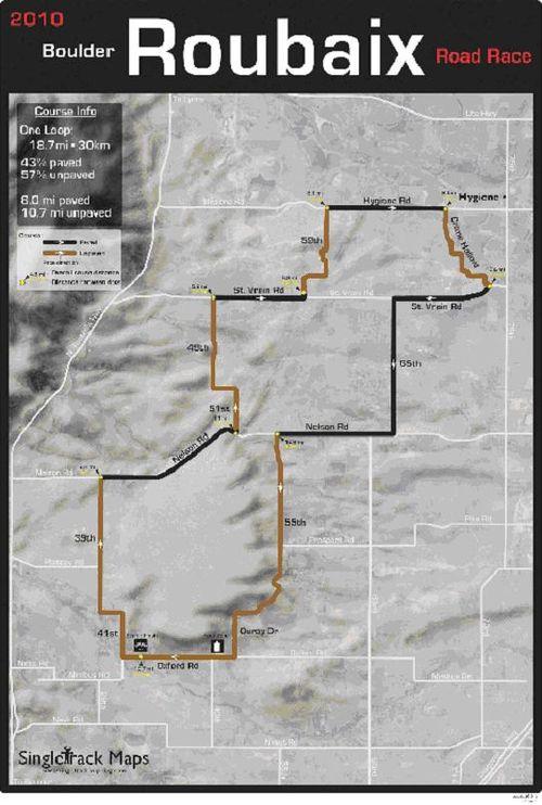 Roubaix Map 2010